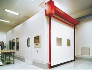 Скоростные ворота Dynaco D-311 Cleanroom внутреннего применения (высокогерметичные)