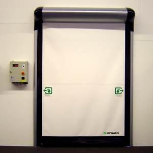 Скоростные ворота Dynaco D-313 Cleanroom внутреннего применения (высокогерметичные)