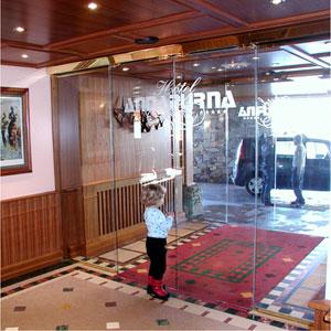 Автоматические двери LUMINA от PORTALP полностью стеклянные