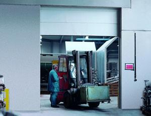 Секционные противопожарные ворота Teckentrup.  Класс огнестойкости T90