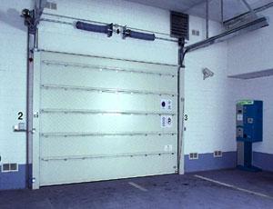Секционные противопожарные ворота Teckentrup.  Вид изнутри